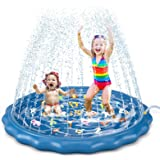 """Jasonwell Splash Pad Sprinkler for Kids Toddlers Play Mat 60"""" Inflatable Baby Wading Pool Summer Outdoor Water Toys for Child"""