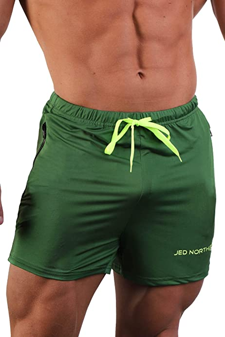 Jed North Mens Performance Training 2 in 1 Compression Running Yoga Active Gym Shorts