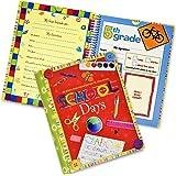 School Memory Book Album Keepsake Scrapbook Photo Kids Memories from Preschool Through 12th Grade with Pockets for Storage Po