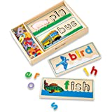 Melissa & Doug 2940 See & Spell Wooden Educational Toy With 8 Double-Sided Spelling Boards and 50+ Letters