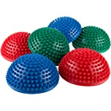 Hey! Play! Exercise Balance Pods- Hedgehog Style Balancing and Stability Half Dome Stepping Stones for Exercise- Set of 6 for