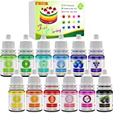 Food Coloring - 12 Color Vibrant Cake Food Coloring Set for Baking, Decorating, Fondant and Cooking - Upgraded Liquid Concent
