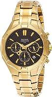 Pulsar Men PT3856X Year-Round Chronograph Quartz Gold Watch