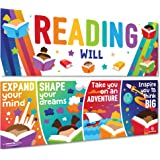 Sproutbrite Classroom Decorations - Reading Banner and Poster for Teachers - Bulletin Board and Wall Decor for Pre School, El