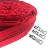 SBest Nylon Zippers #5 10 Yards Sewing Zippers Bulk DIY Zipper by The Yard Bulk with 20PCS Slider-Long Zippers for Tailor Sew