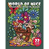 WORLD of MICE (Stained Glass Color By Number): Activity Coloring Book for Adults Relaxation and Stress Relief