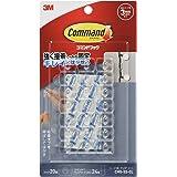 3M コマンド フック キレイにはがせる 両面テープ コード用 クリア ミニサイズ 20個 CMG-SS-CL
