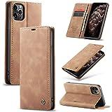 iphone11 ケース 手帳型 iphone 8 SE 2020 第2世代 iPhone11pro アイフォン 7 アイホンiphone 8 スマホケース 8plus 7plus カード収納 カバー (iPhone 11 Pro, 褐色)