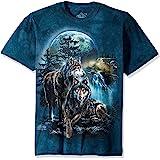 The Mountain Mens 104978 Wolf Lookout T-Shirt Short Sleeve T-Shirt