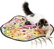 【猫壱】キャッチ・ミー・イフ・ユー・キャン2(本体) 猫 猫用 おもちゃ 電動おもちゃ スイッチ長押し タイマー付き ストレス解消 運動不足解消 飽きない 一人遊び 乾電池使用品 羽 ひも カシャカシャシート キャッチミー