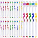 25 Bulk Toothbrushes | Individually Wrapped | Manual Disposable Travel Toothbrush Set for Adults or Kids | Made with a Medium