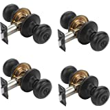 Dynasty Hardware SIE-30-12P Sierra Door Knob Privacy Set, Aged Oil Rubbed Bronze, Contractor Pack (4 Pack)