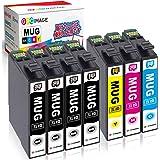 GPC Image エプソン対応 MUG-4CL マグカップ 互換インクカートリッジ 合計7本 ( MUG 4色パック+ MUG-BK 3本)Epson用 EW-452A EW-052A 互換インク 残量表示機能 2年保証 個包装 大容量