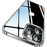 CASEKOO iPhone 12 Pro Max 用 ケース 6.7 インチ クリア 米軍MIL規格 耐衝撃 SGS認証 カバー ストラップホール付き ワイヤレス充電対応 アイフォン 12 Pro Max 用 ケース(クリア)