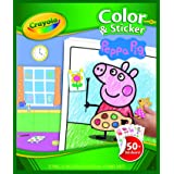 Creativity Crayola Peppa Pig Colour and Sticker Book, (04419), 8.5 x 10 Inches