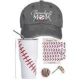 Baseball Mom Gifts, Baseball Tumbler, Baseball Mom Trucker Hat, Baseball Earrings, Baseball Hair Pony Tails, Baseball Cap for