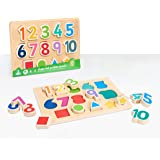 Early Learning Centre Shape & Number Puzzle, Hand Eye Coordination, Learning to Count, Problem Solving, Toys for 18 Months, A