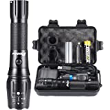 PHIXTON Rechargeable Flashlights High Lumens, High Power Tactical LED 18650 Flash Lights, Super Bright Gear Emergency Torch,