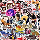 50 Pack Stranger Things Stickers Laptop Water Bottle Decal Waterproof Vinyl Stickers for Teens, Girls, Women Skateboard Motor