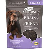 Ark Naturals Gray Muzzle Brain's Best Friend Vet Recommended Soft Chews for Cognitive Issues Associated with Aging, 90 Count
