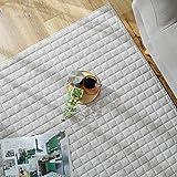 グラムスタイル カーペット キルトラグ 洗える ラグマット 冬用 タオル地 綿100% 滑り止め付 2畳 190×190cm グレー