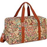 BAOSHA HB-32 Canvas Travel Duffel Bag Weekender Overnight Bag Carry on Oversized for Women and Ladies