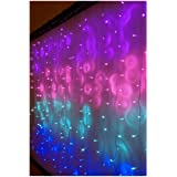 Something Unicorn - LED String Curtain Lights with Dimmer Switch for Teen Room, Girls Room, College Dorm, Nursery and Kids Ro