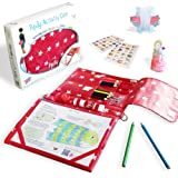 Pipity Kids Activity Sets. Holiday Essentials with Art Set + Activities Books: Arts, Craft, Travel Games + Puzzle Fun. Great