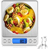 T Tersely Digital Kitchen Scales,USB Charging, 500g/0.01g Mini Food Scale, kitchen Scale,Electric Cooking Scales, Digital Sca