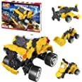 LaQ Hamacron Constructor Monster Truck - 5 Models, 165 Pieces | Japanese Building & Construction Toy for Kids | Educational S