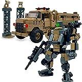 マイビルド (MyBuild) メカフレーム防衛軍メカストライカーと MTVR 戦術車貨物トラックブロックセット