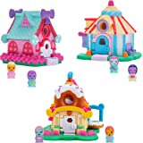 Nanables Small House Sweetness Town 3-Pack #1: Dusted Donut Diner, Lolli-Pop Stars Dance Studio, & Gumdrop Gazebo