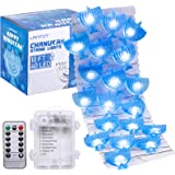 URATOT 10 Feet 40 LED Chanukah Decorative String Lights, Hanukkah Menorah Twinkle Lights Battery Operated with 8 Flash Modes,