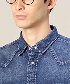 Denim Western Shirt 1211-173-6744: Royal