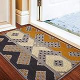 """Color&Geometry Indoor Doormat, Indoor Outdoor 32""""x20"""" Mat Waterproof, Non Slip Washable Quickly Absorb Moisture and Resist Di"""