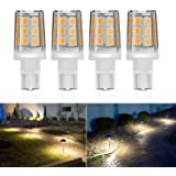Kohree 2.5W LED Replacement Landscape Pathway Light Bulb 12V AC/DC Wedge Base T5 T10 for Malibu Paradise Moonrays and more (4