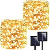 2-Pack Each 72ft 200LED Solar String Lights Outdoor, Super Bright Solar Christmas Lights (Upgraded Oversize Lamp Beads), Wate