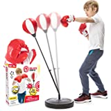 Whoobli Punching Bag for Kids Incl Boxing Gloves | 3-8 Years Old Adjustable Kids Punching Bag with Stand | Boxing Bag Set Toy