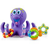 Nuby Octopus Hoopla Bathtime Fun Toys, Purple