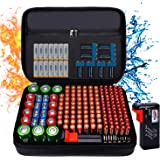 Fireproof Battery Organizer Storage Case Waterproof & Explosionproof, Safe Bag Fits 210+ Batteries Case - with Tester BT-168,