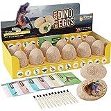 Dig a Dozen Dino Eggs Dig Kit - Easter Egg Toys for Kids - Break Open 12 Unique Large Surprise Dinosaur Filled Eggs & Discove