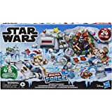 Star Wars Micro Force Advent Calendar Holiday Display with 24 Collectible Surprise Mini Figures and 7 Exclusive Stickers, Kid