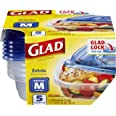 Glad BB13454 Entrée Containers With Lids, 5s