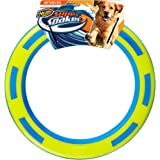 Nerf Dog Rubber & Foam Ring Dog Toy, Frisbee, Lightweight, Durable and Water Resistant, 9 Inch Diameter, For Medium/Large Bre