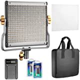 Neewer Dimmable Bi-Color 480 LED Video Light CRI 96+ 3200-5600K with U Bracket,2 Pieces Rechargeable Li-ion Battery and USB C