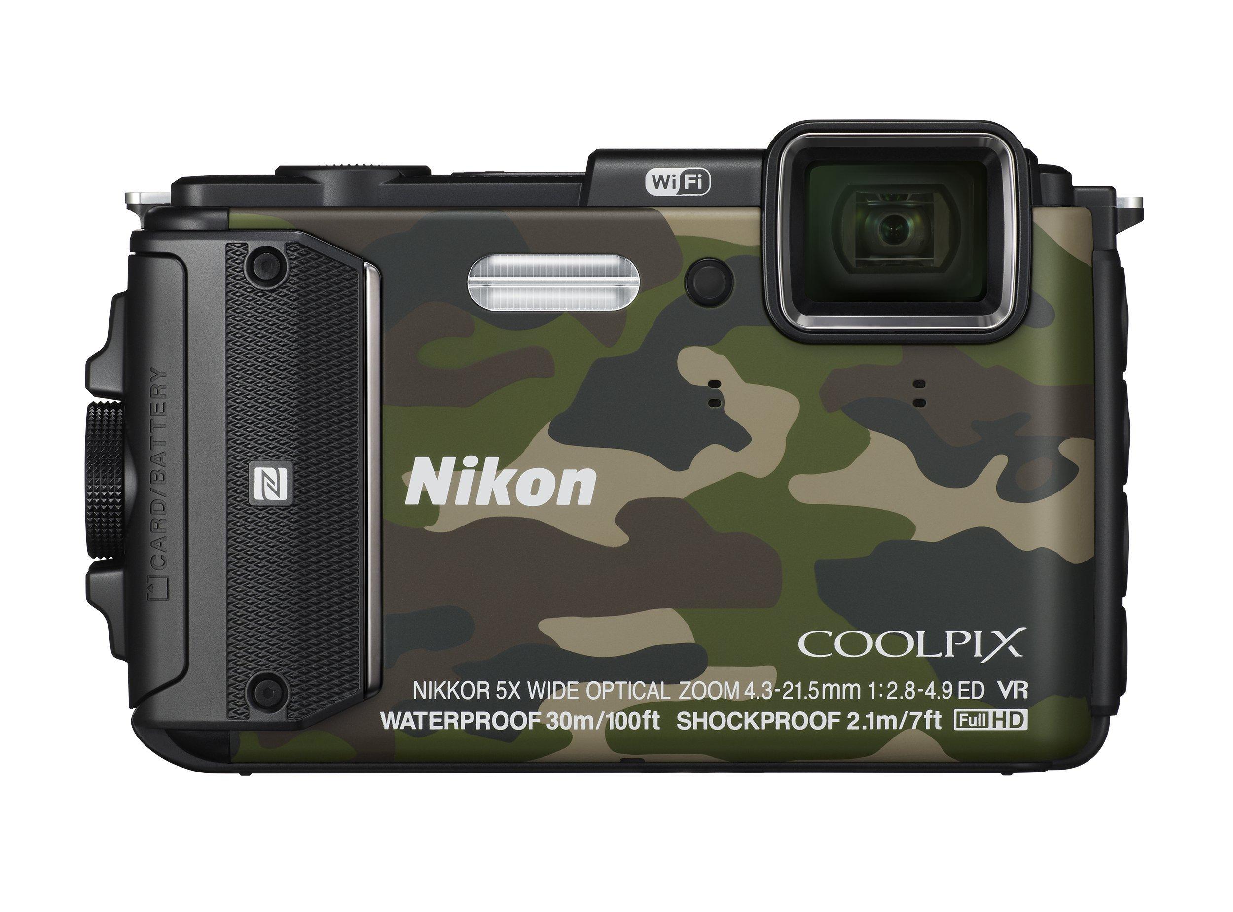 Nikon デジタルカメラ COOLPIX AW130 カムフラージュグリーン