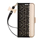 Galaxy S9 Plus Case,Galaxy S9 Plus Wallet Case, WWW [Luxurious Romantic Carved Flower] Leather Wallet Case with [Inside Makeu