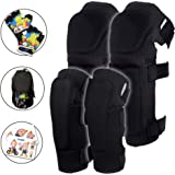 Innovative Soft Kids Knee and Elbow Pads with Bike Gloves | Toddler Protective Gear Set w/Mesh Bag& Sticker | CSPC Certified&