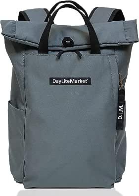 デイライトマーケット(DayLiteMarket)ロゴリュック ボックスロゴ ロールトップバックパック 軽量多機能バック レディース メンズ PC収納 撥水 防水 バックパック 約15ℓ DLM-348