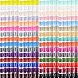 1440 Pieces 60 Sets Short Square Fake Nails Artificial Nail Tips Glossy Press on Nails Square Colorful Nail Tips Full Cover A